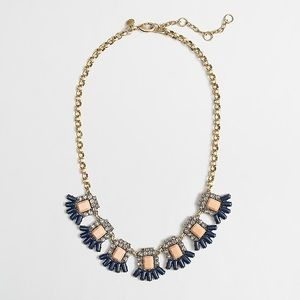J. Crew Statement Stone Flags Necklace Teal
